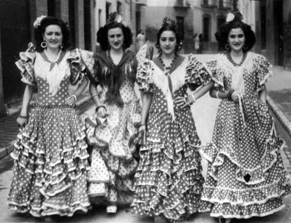 evolucion traje de flamenca antiguo