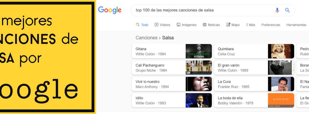 Las mejores canciones de salsa según Google (lista de Enero 2021)