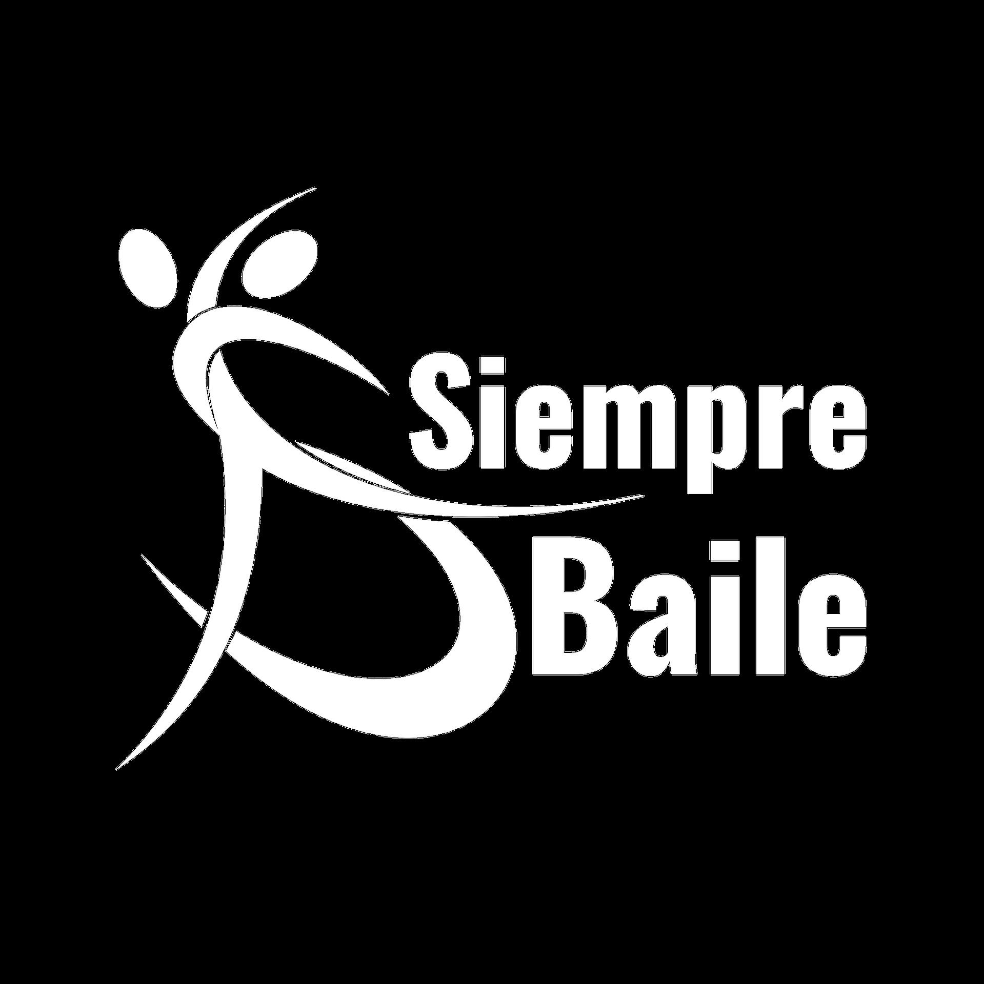 Siempre Baile Logo Blanco
